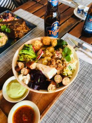 homemade vegetarian food in Mui Ne