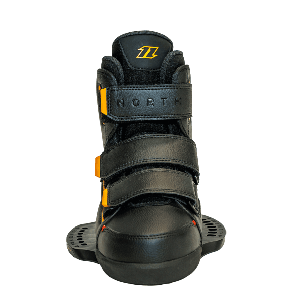 north fix boot bindings front view