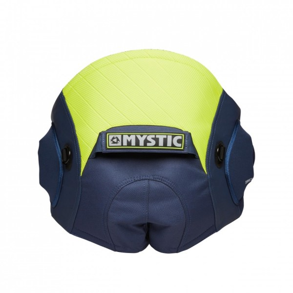 mystic aviator seat harness in blue and lime
