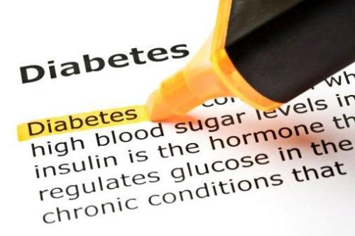 Diabetes highlighted in dictionary