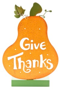 """""""Give Thanks"""" Gourd"""