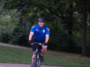 Police officer on bicycle