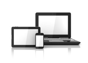 Computer, tablet and phone