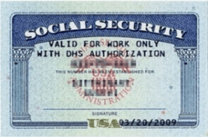 This social security card cannot be used as a supporting document for the I-9 form.