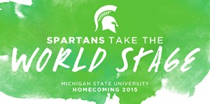 MSU homecoming 2015 graphic