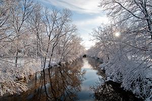Red Cedar River in winter.