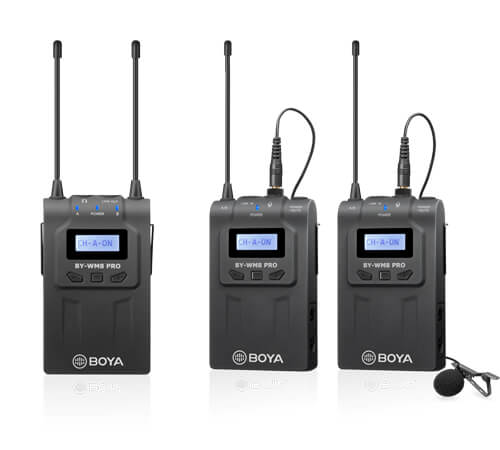 BOYA BY-WM8 Pro-K2 UHF Dual-Channel Wireless Microphone SOP