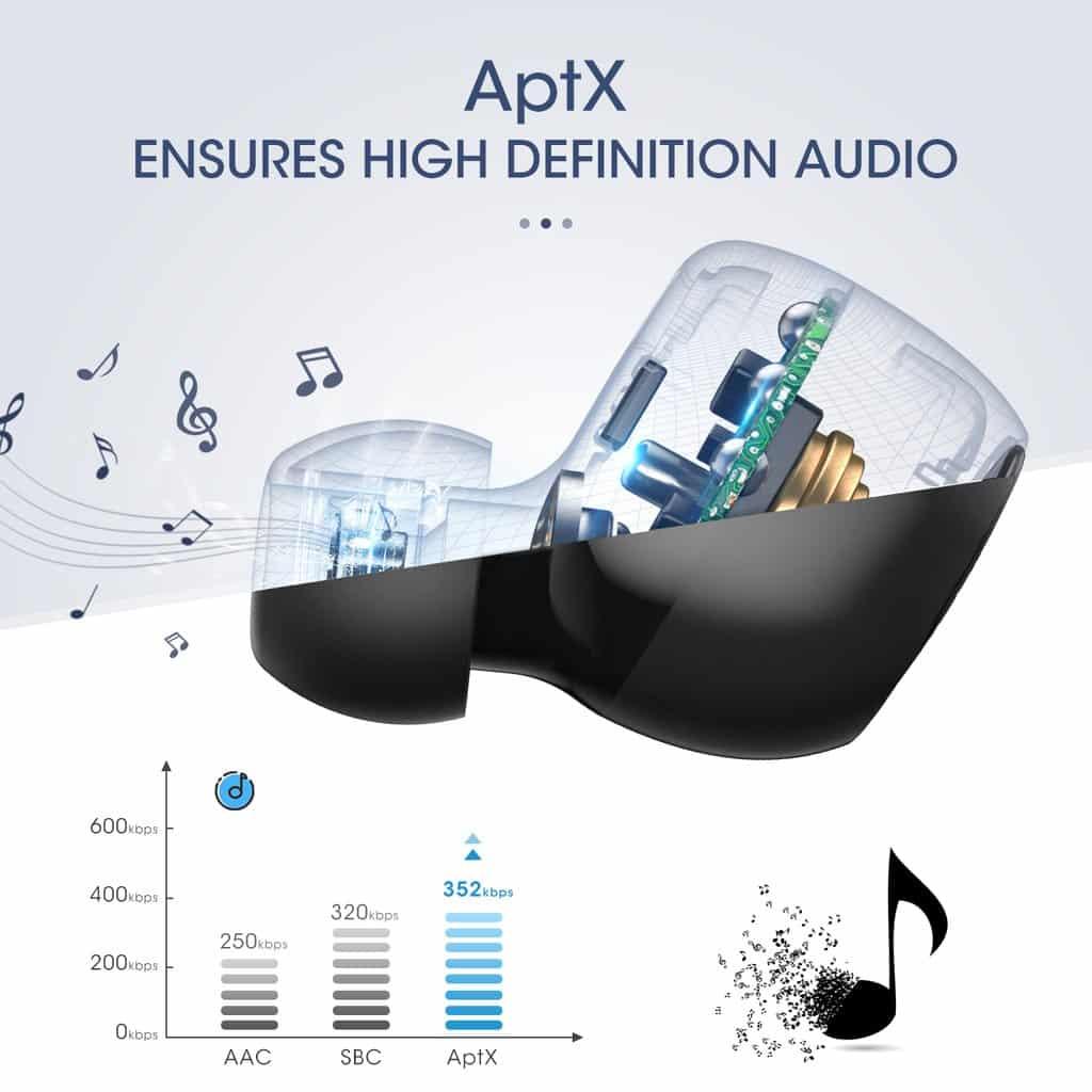 MPOW T5M5 IPX7 Waterproof Wireless Earbuds SOP