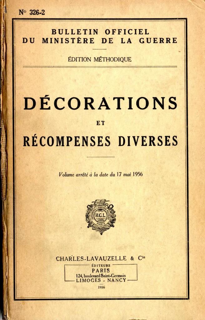 Des décorations et des archives