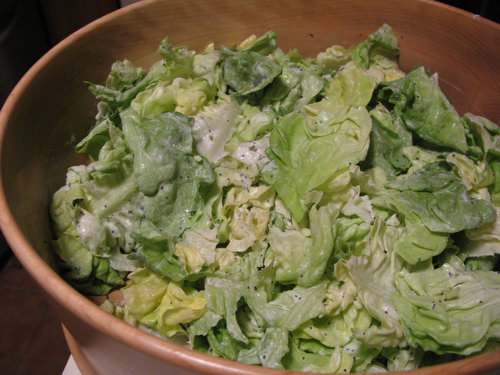 Butter Lettuce Salad with Creamy Tarragon Poppyseed Dressing