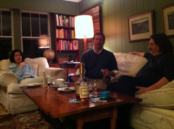 Drinks in the living room