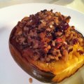 Roasted Acorn Squash Stuffed with Wild RIce Pilaf