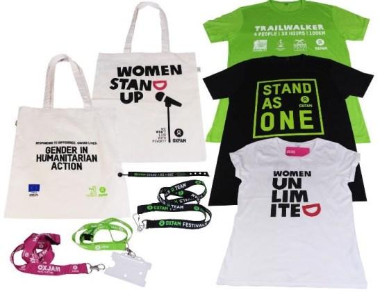 Oxfam GB Campaign Merchandise