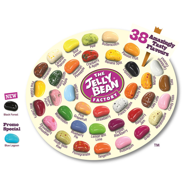 Clear Midi Tube filled with Jelly Beans