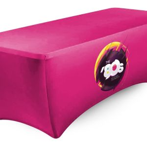 custom printed fitted tablecloths