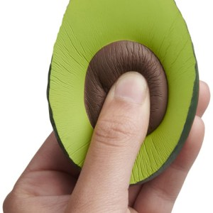 Stress Squeeze Toy Avocado Shaped Branded with Logo