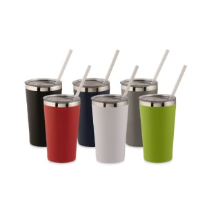 Promotional Coffee Cups with Straw Custom Printed