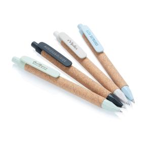 Promotional Recycled Ballpens from Wheat Straw and Cork