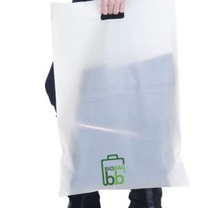Bio Die Cut Shopping Bag Custom Printed