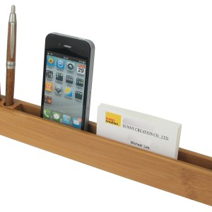 Promotional Bamboo Desk Organiser Custom Printed