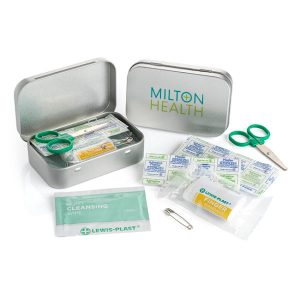 Branded First Aid Kit in a Tin