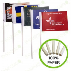 Eco-friendly handheld paper flags