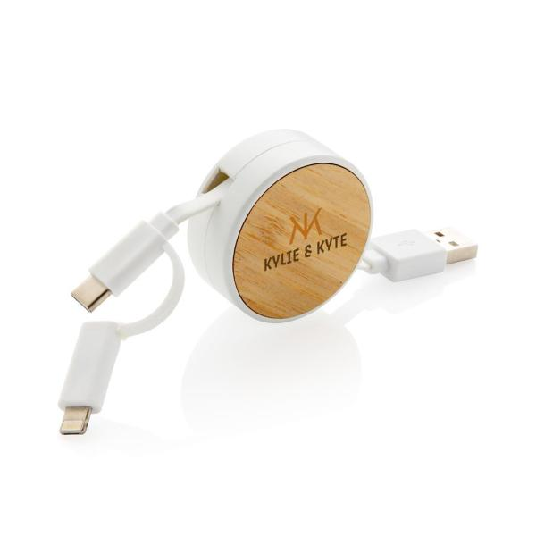 Branded 3-in-1 Retractable Cable