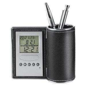 Promotional Desk Tidy and Clock