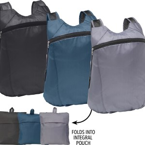 Branded Boxley Fold Up Backpack