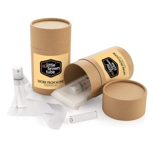 Branded Cardboard Tube Work From Home Kit
