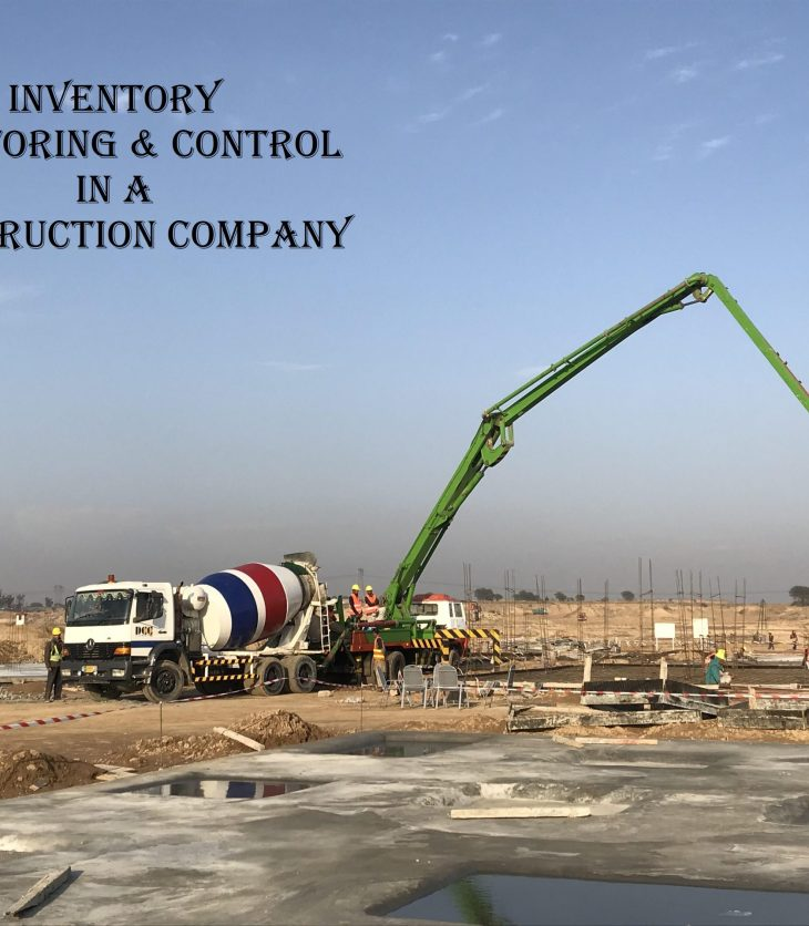 Inventory monitoring and control in construction company