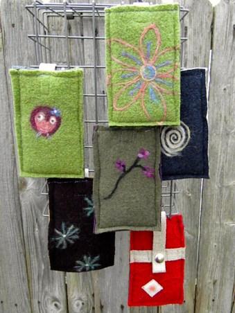 Recycled Wool and Hemp Phone Sleeve