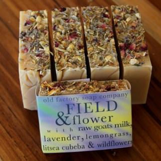 Field & Flower Organic Goats Milk Lavender Soap Old Factory Soap