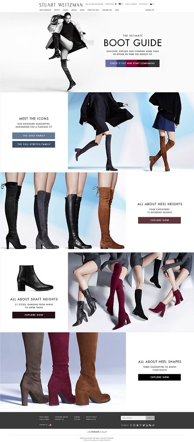 Stuart Weitzman Steps Up its Boot Game: Launches User-Friendly Shoppable Comparison Boot Guide for the Fall 2016 Collection on www.stuartweitzman.com (PRNewsFoto/Stuart Weitzman)