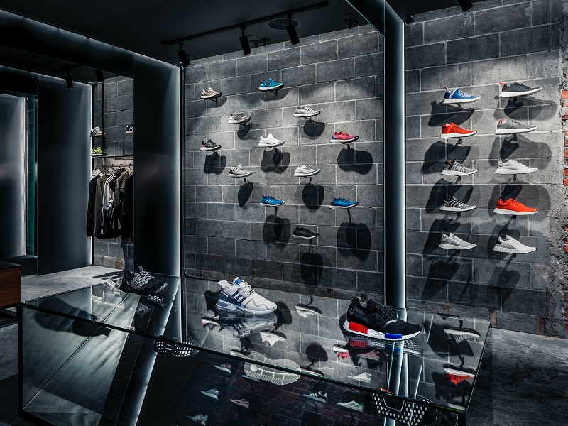 Concepts x Adidas shoe wall