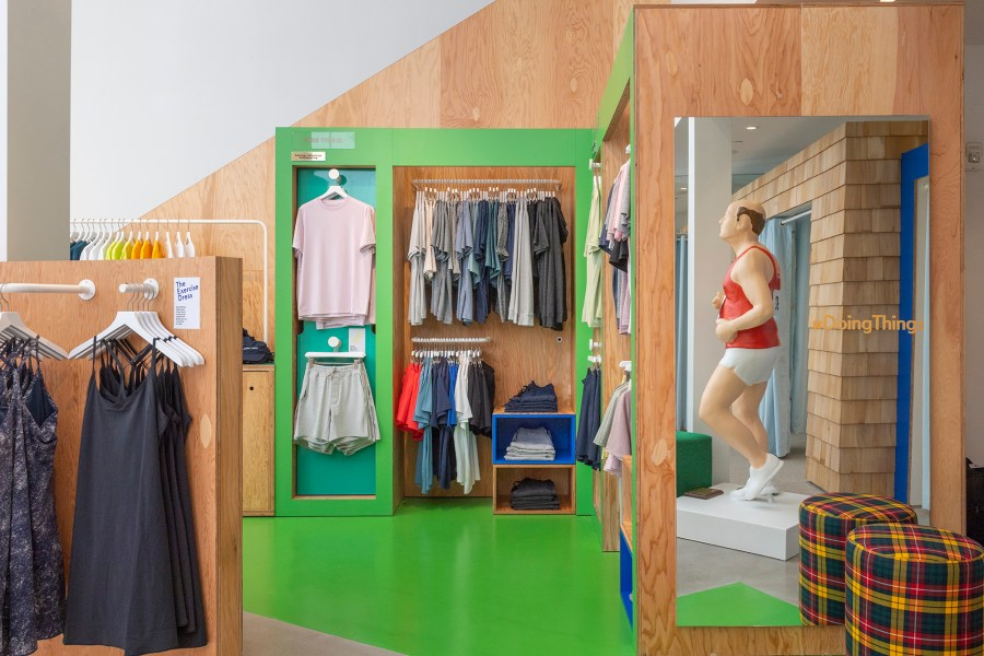 Outdoor Voices, a DTC activewear brand, has several shops, including this one in Boston.
