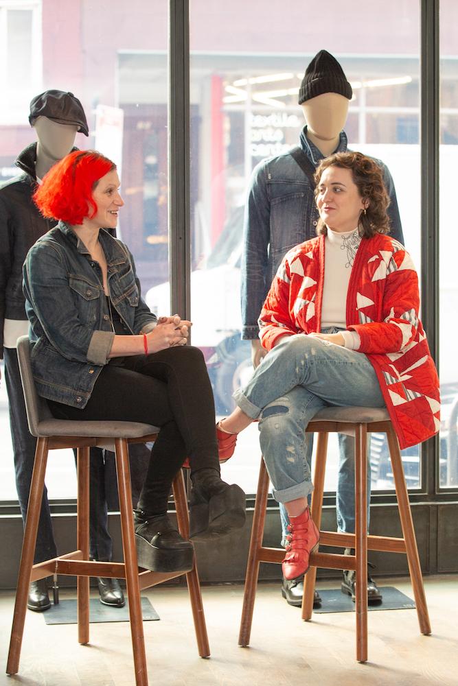 G-Star denim and sustainability expert Adriana Galijasevic and Fashionista editor Whitney Bauck.