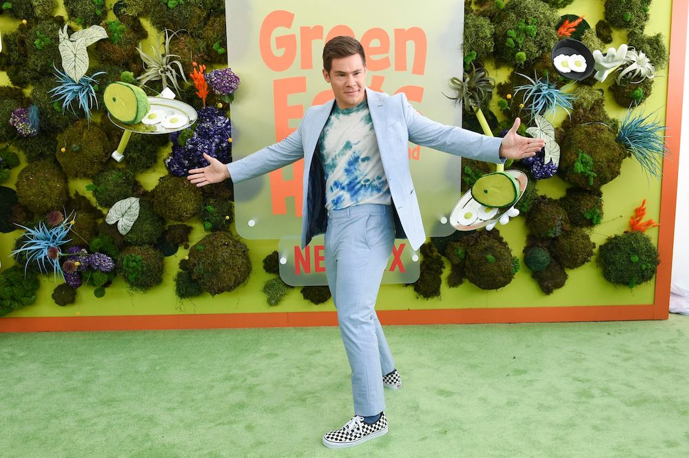 Adam Devine in Vans sneakers.