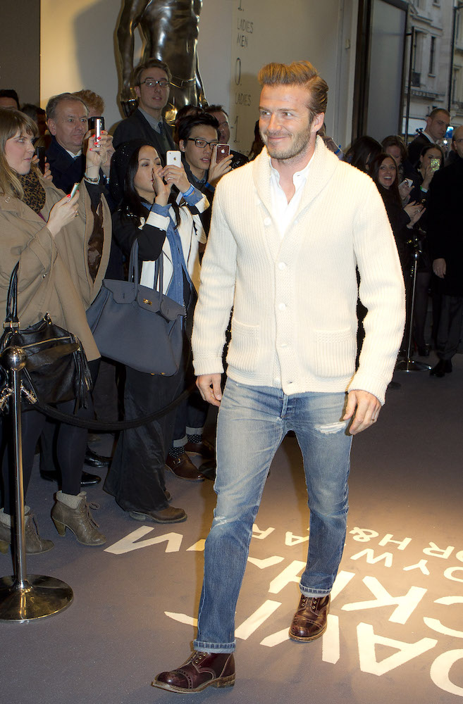 Grandad style like David Beckham's cardigans are a summer style statement.