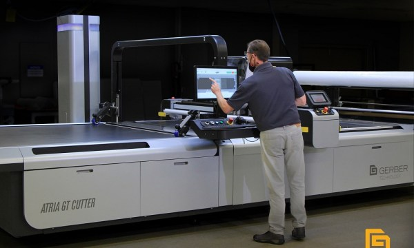 Gerber Technology is taking the flexible materials processing industry to the next level with the launch of the Atria digital cutting room.
