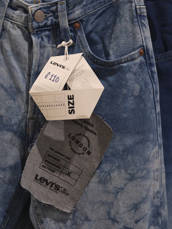 Levi's Haus London is an an example of the denim giant's multi-prong approach to circularity, allowing consumers to shop pre-owned goods.