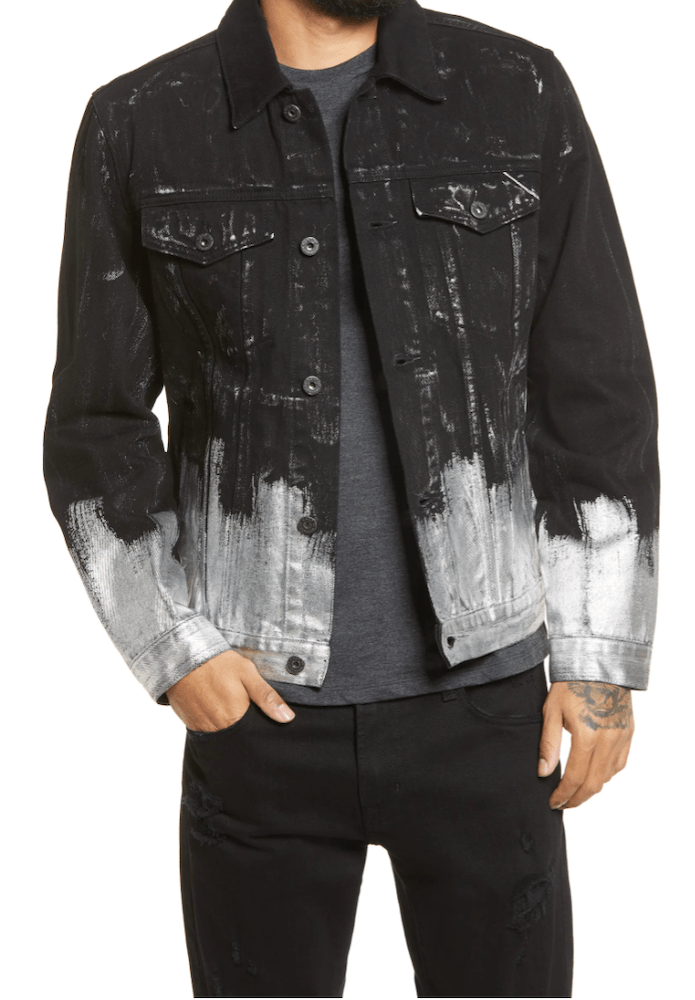 Rivet rounded up some of the top painted denim looks for men and women, featuring paint splattered jeans and denim jackets with artwork.