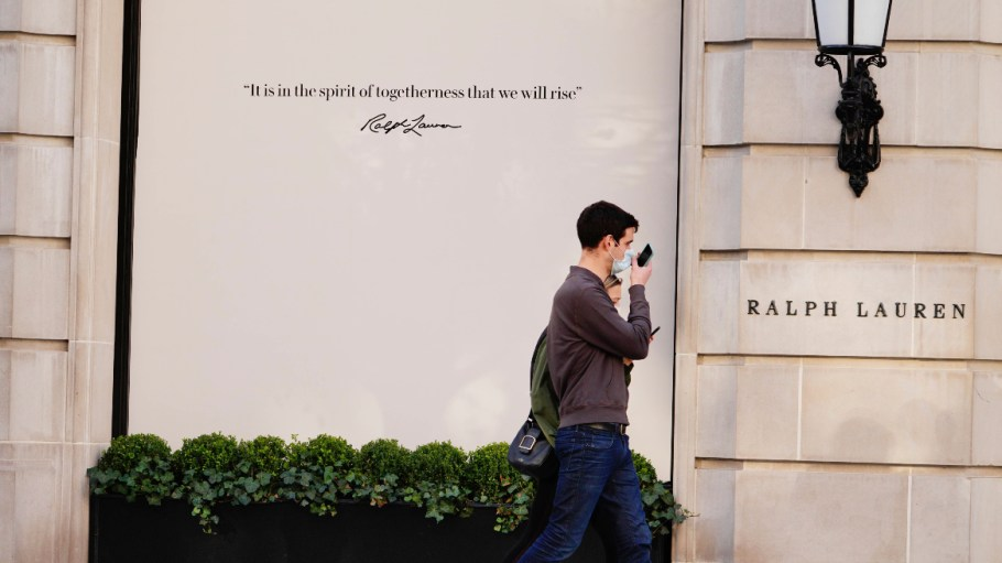 Ralph Lauren shares spiked Friday on