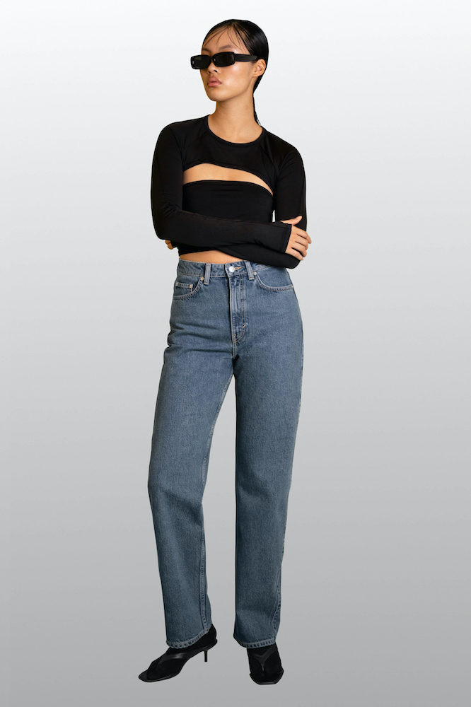 Weekday released Thursday just 64 pairs of women's jeans made with Infinited Fiber Company's unique regenerated textile fiber, Infinna.