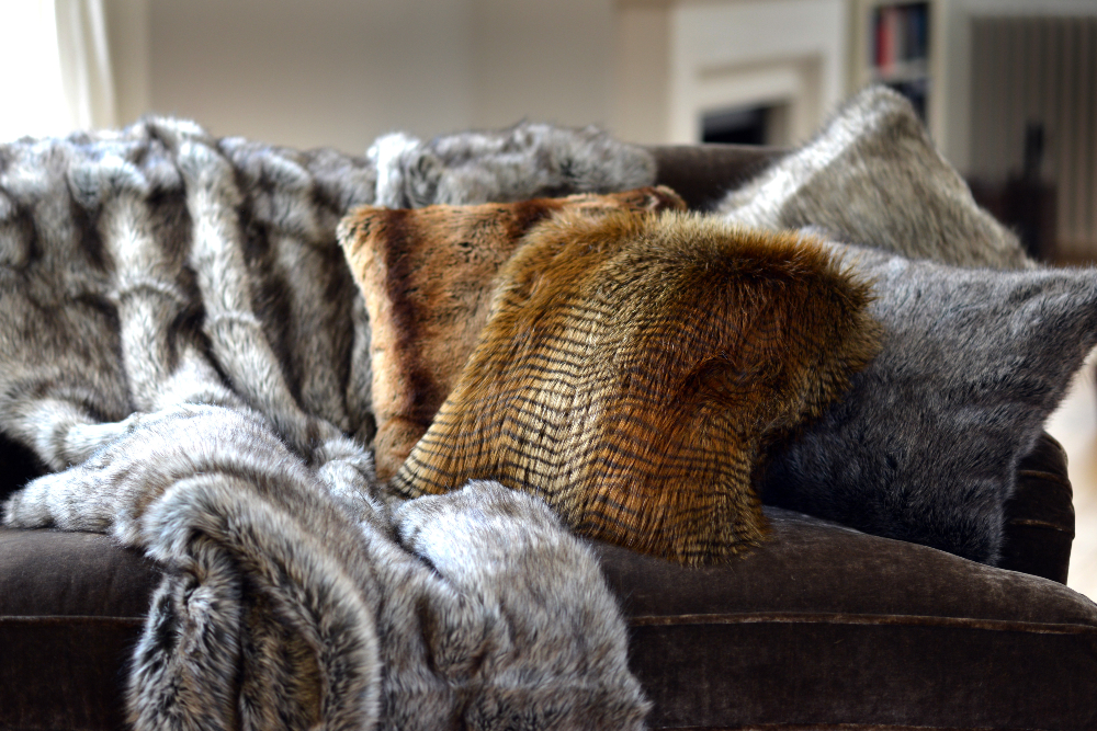 While the Hygge trend hit big a few years ago, COVID increased the desire to create a cozy, comfortable nest. This translates to a boost in furniture and home goods made with soft, plush fabric like faux fur.