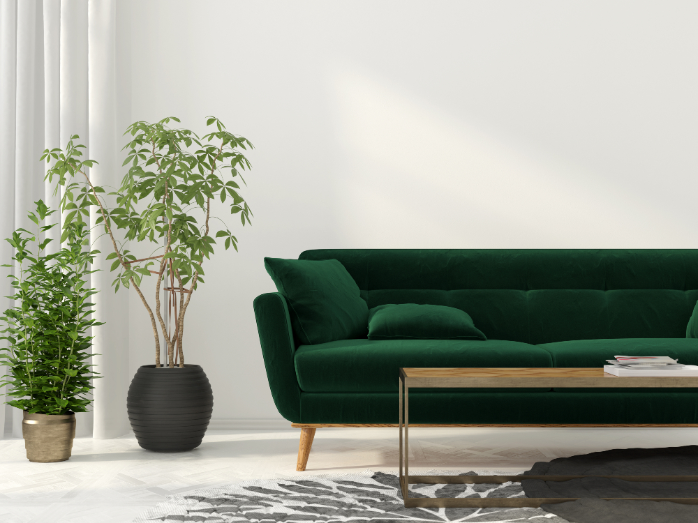 According to the Edited report, green accounts for 13 percent of sofa arrivals this year, up from four percent last year.