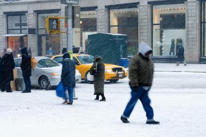 Snowfall in Manhattan