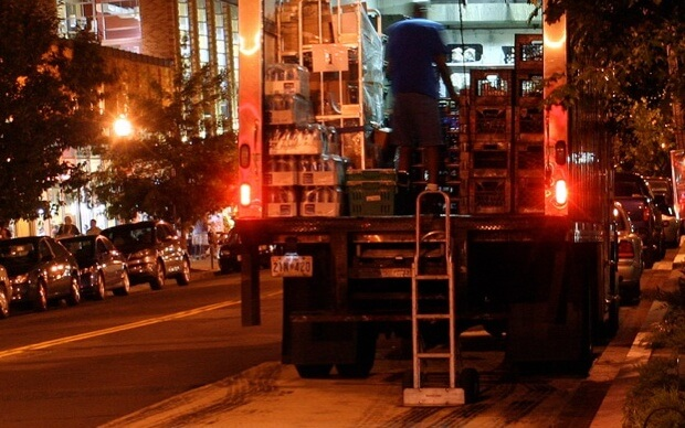 overnight truck deliveries