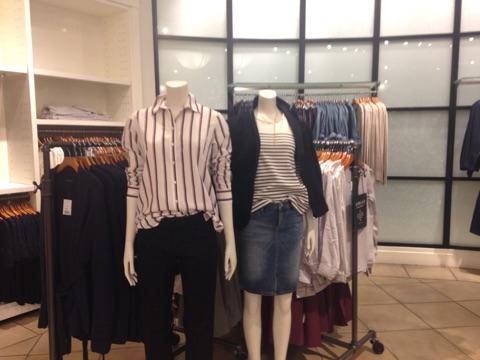Women's display at Banana Republic's 34th Street store