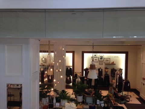 A view from the store's staircase.